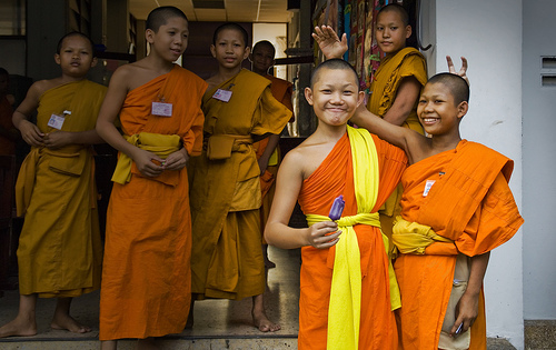 photo of novice monks