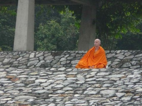 Sean Fargo Meditating in Thailand